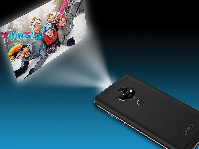 تلفن همراه هوشمند moviphone در نمایشگاه CES با داشتن ویدیو پروژکتور داخلی معرفی شد