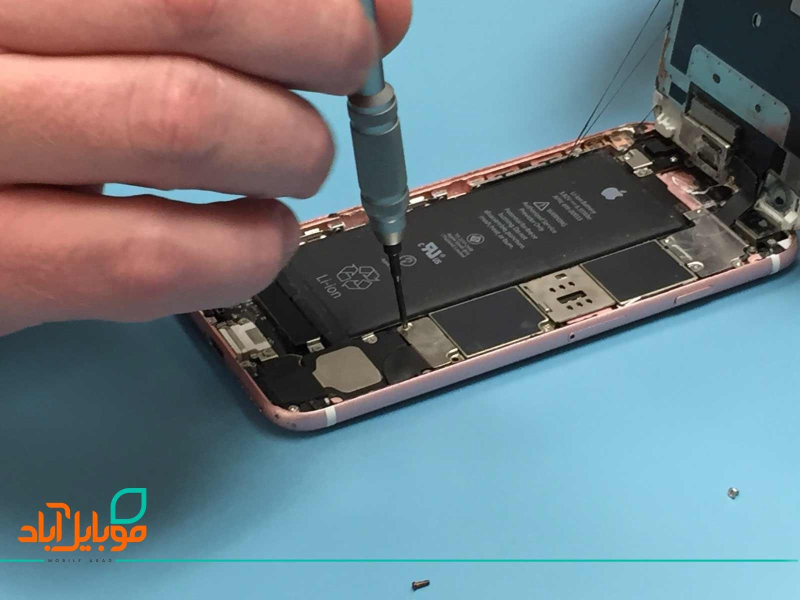 تعویض و تعمیر باتری آیفون 6s